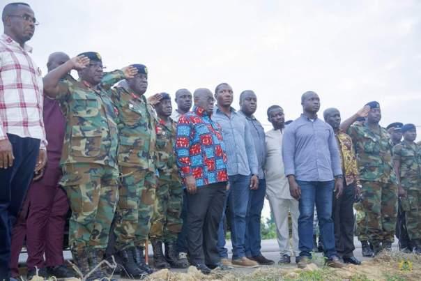 Nana Akufo-Addo Visited Major Maxwell Mahama Murder Site In Denkyira-Obuasi (2)