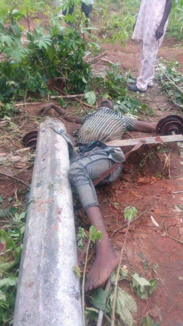 Man Dies After Pole Fell On Him While Attempting To Steal Electric Cables (3)
