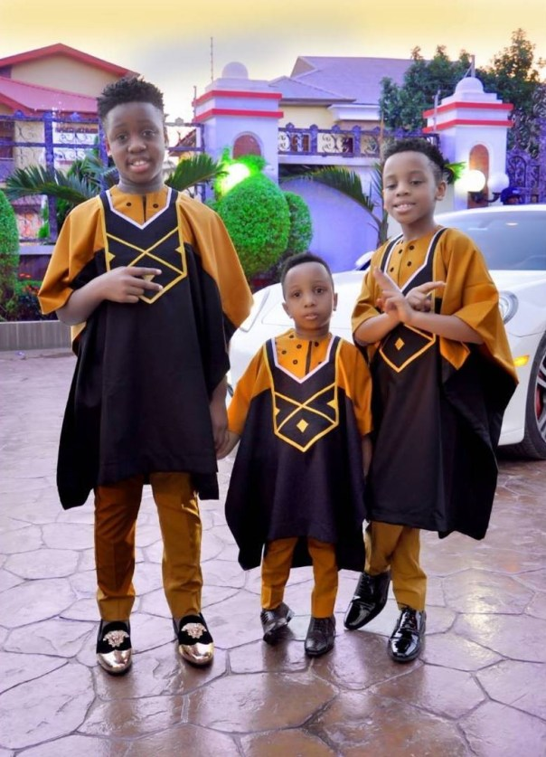 E-Money And His Three Sons Rock Matching Outfits (5)