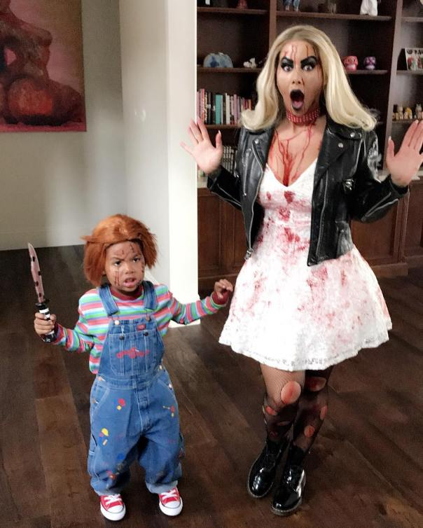 Amber Rose And Son Sebastian Channel Tiffany And Chucky For Halloween (2)