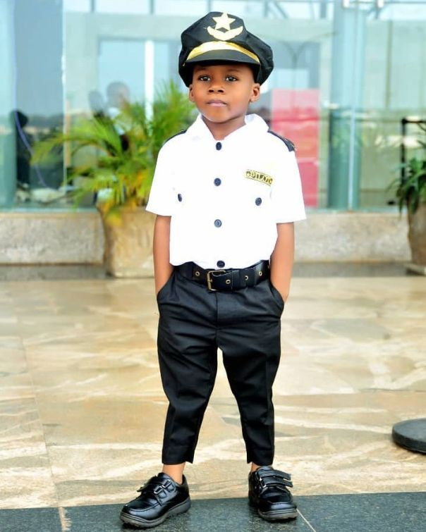 Junior Pope Transforms His Son Into A Pilot As He Celebrates 3rd Birthday (2)