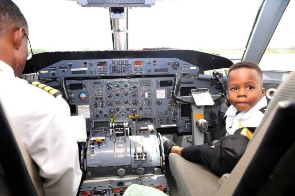 Junior Pope Transforms His Son Into A Pilot As He Celebrates 3rd Birthday (4)