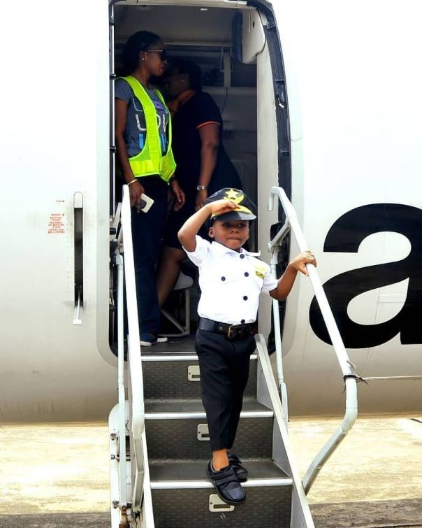 Junior Pope Transforms His Son Into A Pilot As He Celebrates 3rd Birthday (5)