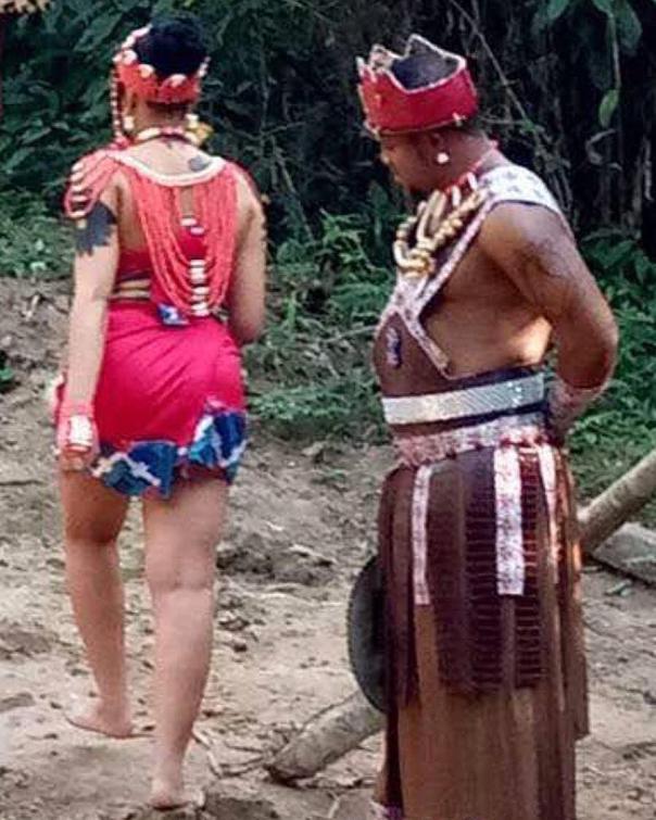 Rosy Meurer Pictured Alongside Walter Anga With Ejike Asiegbu And Rita Daniels On Set Twisted The Movie (4)