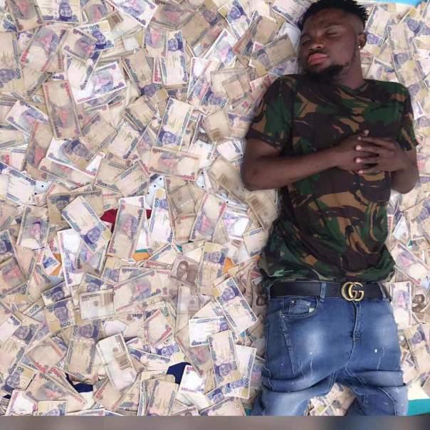 Freeman Obg Owoboy The Nigerian Man Who Sleeps On Money (4)