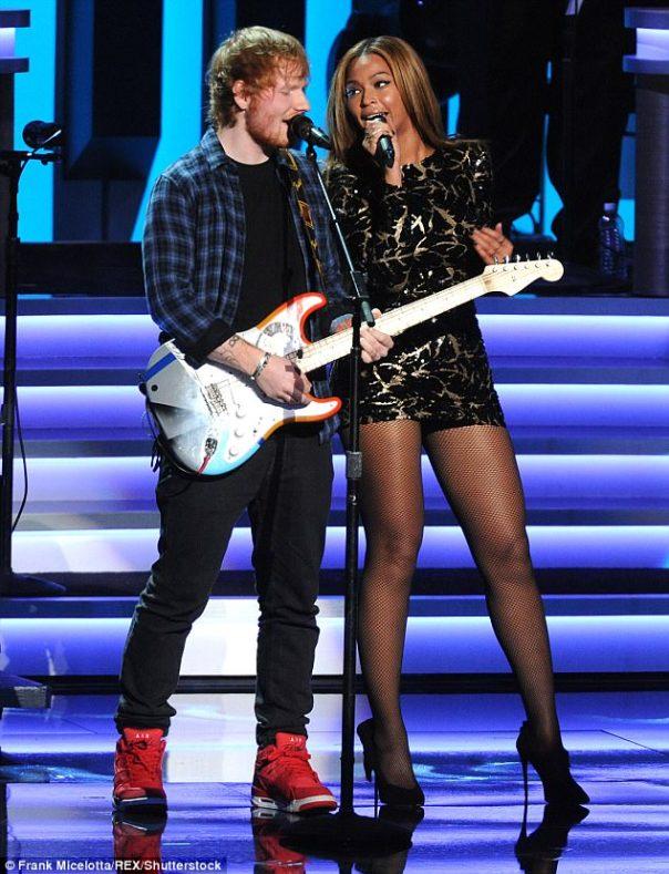 Ed Sheeran Performing Alongside Beyonce (2)