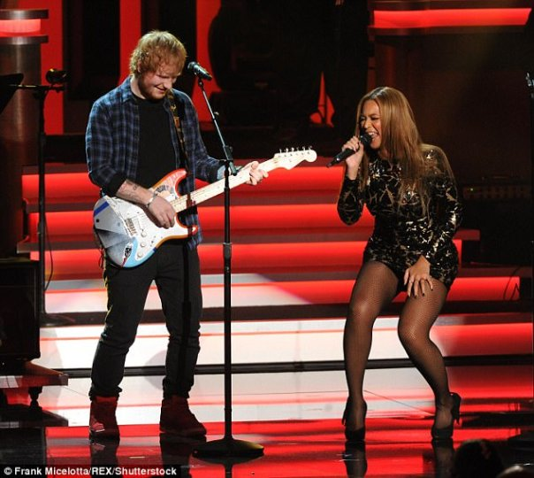 Ed Sheeran Performing Alongside Beyonce