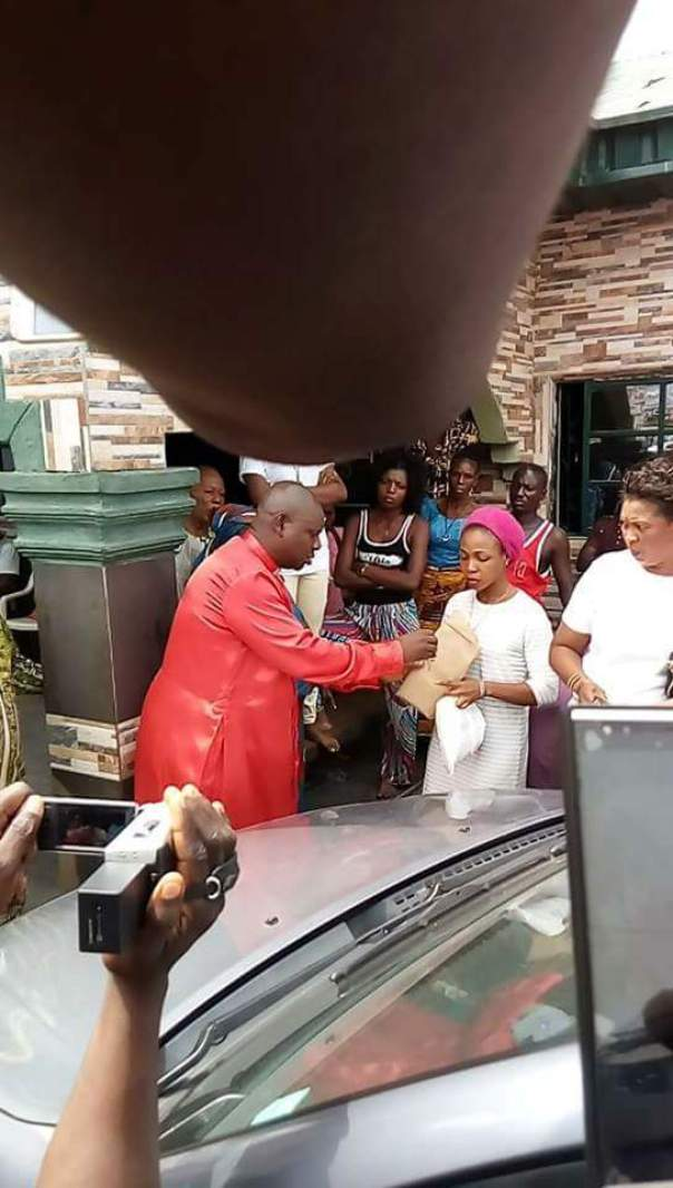 Woman Uses Her Husband's Car To Sow Seed In A Church (2)