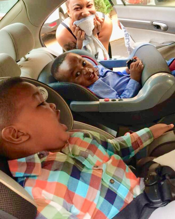 Tonto Dikeh Goes Emotional And Tearful As Son Resumes First Day Of School (4)