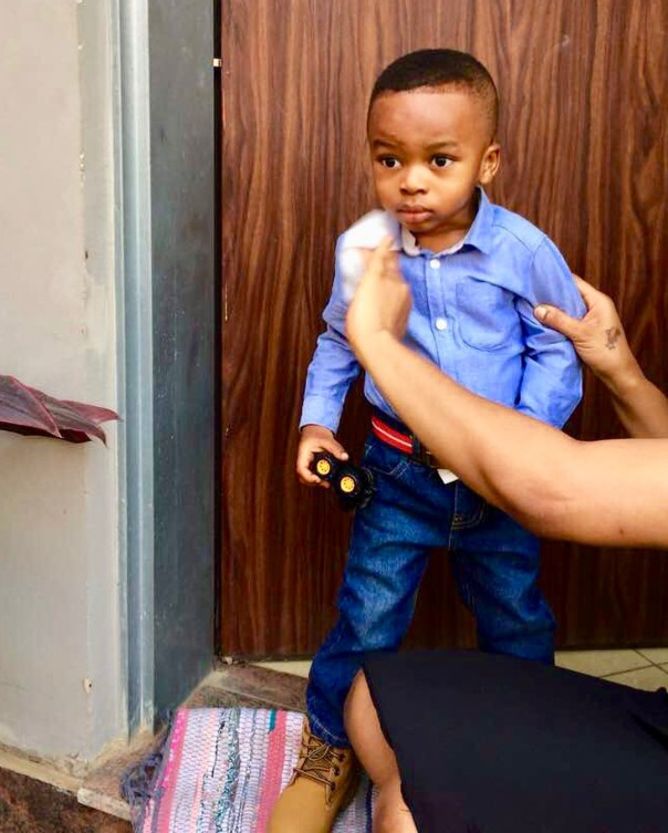 Tonto Dikeh Goes Emotional And Tearful As Son Resumes First Day Of School (5)