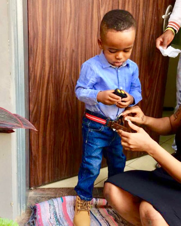 Tonto Dikeh Goes Emotional And Tearful As Son Resumes First Day Of School (6)