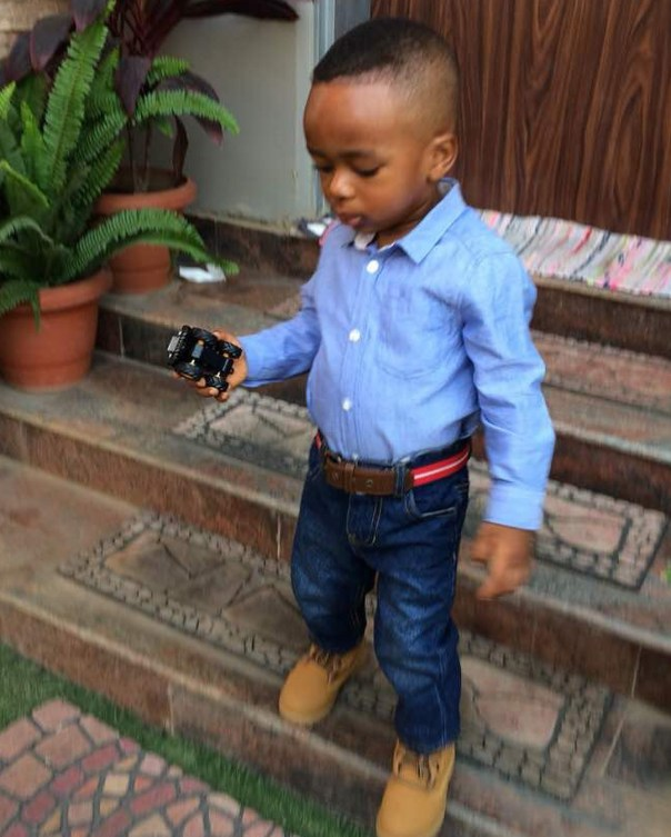 Tonto Dikeh Son Resumes First Day Of School