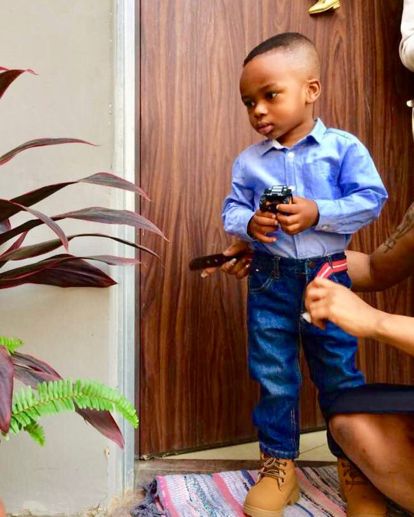 Tonto Dikeh Son Resumes First Day Of School (3)