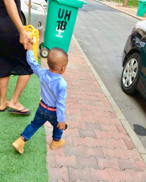 Tonto Dikeh Son Resumes First Day Of School (4)