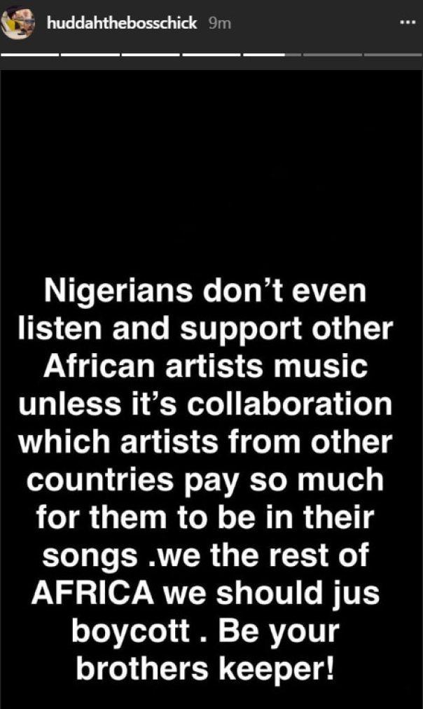 Huddah Monroe Has Called For The Boycott Of Nigerian Music (2)
