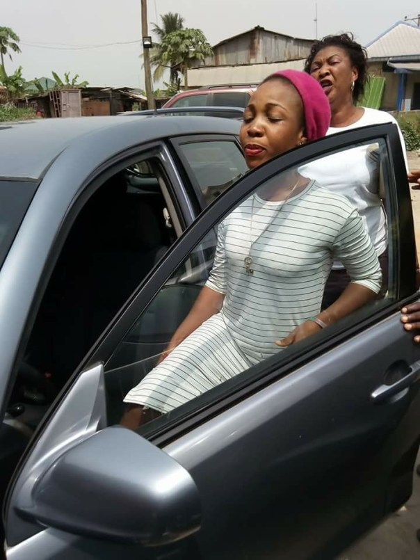 Woman Uses Her Husband's Car To Sow Seed In A Church (3)