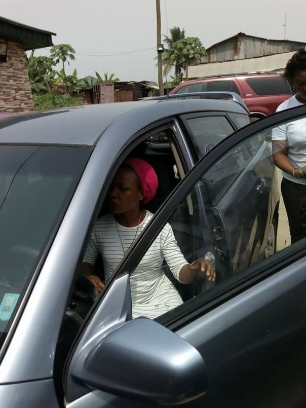 Woman Uses Her Husband's Car To Sow Seed In A Church (5)