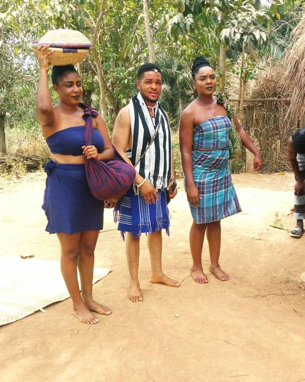 Chioma Akpotha On Set Of DRUM OF LOVE (6)