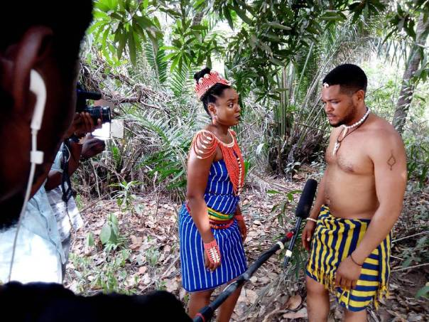 Chioma Akpotha On Set Of DRUM OF LOVE (4)