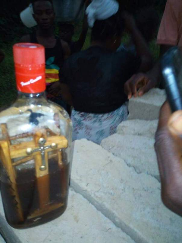 Mysterious Bottle With Picture Of Man And Crucifix Found In Bonsa River (2)