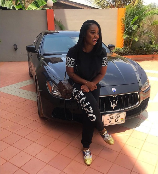 Jackie Appiah Shows Off Her Customized Maserati (2)