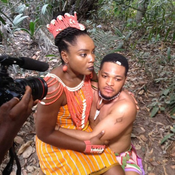 Chioma Akpotha On Set Of DRUM OF LOVE (3)