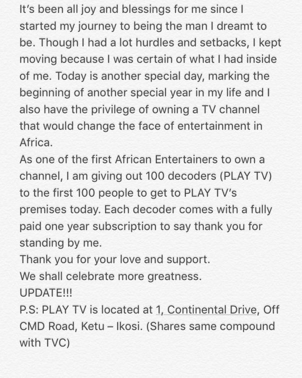 Olamide Launches Play TV Channel (2)