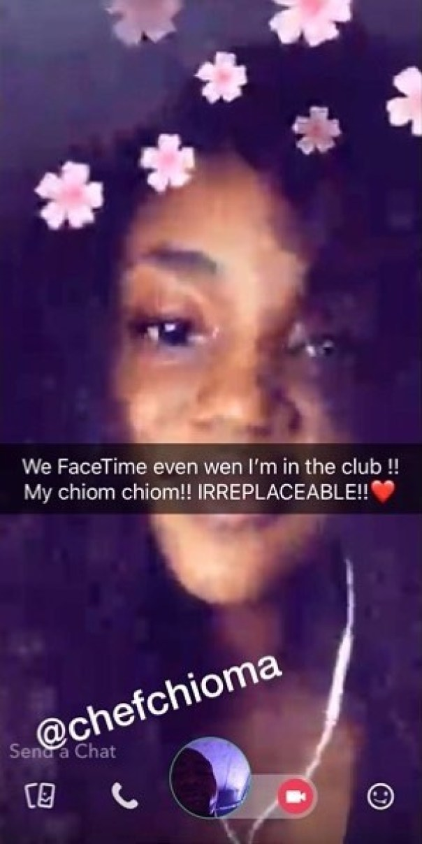 Irreplaceable Love: Photo Of Davido FaceTiming Girlfriend Chioma While Clubbing (2)
