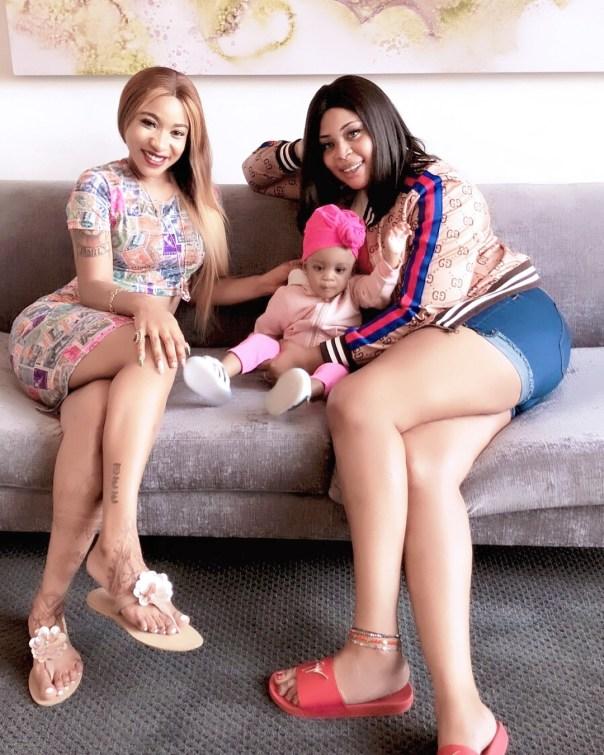 Tonto Dikeh And Mimi Orjiekwe Hang Out On Mother's Day (3)