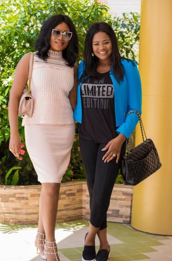 Sandra Ankobiah all smiles with Kafui Danku