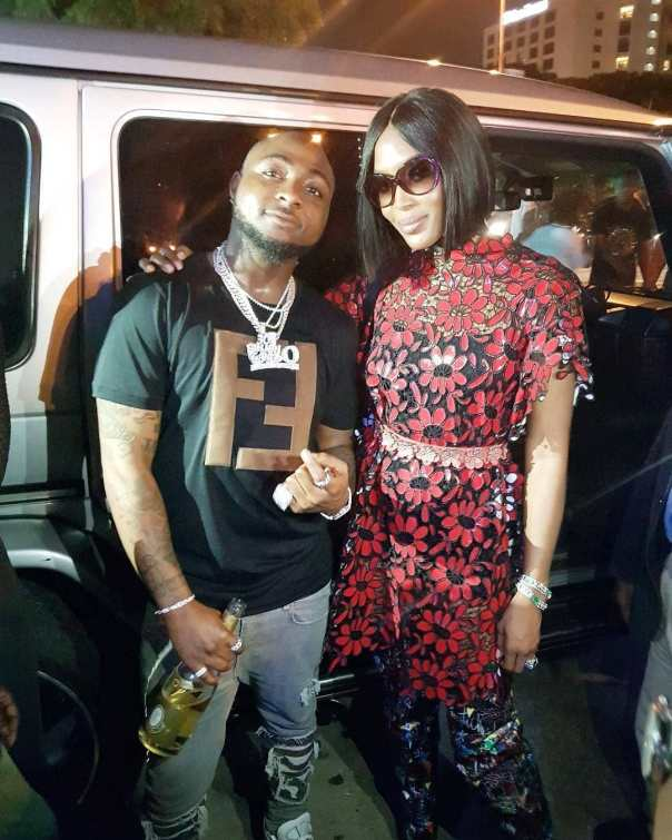 Davido Pictured With Naomi Campbell (2)