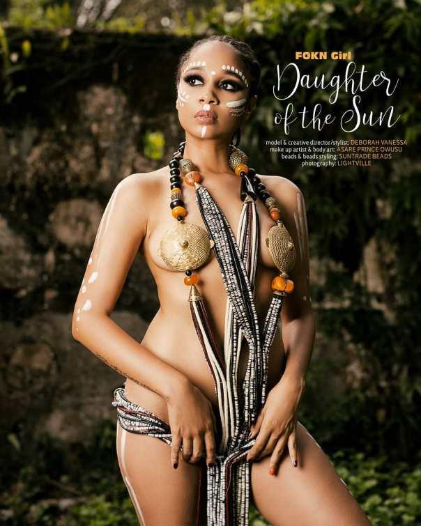 Sister Deborah In Artistic Nude Shoot With Beads (3)