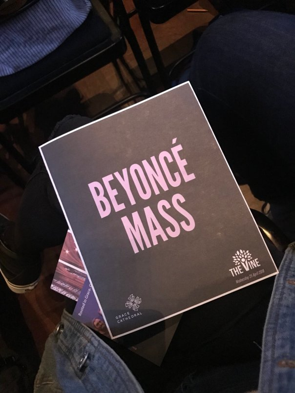 Beyonce Mass Was Held At Grace Cathedral Church In San Francisco (3)