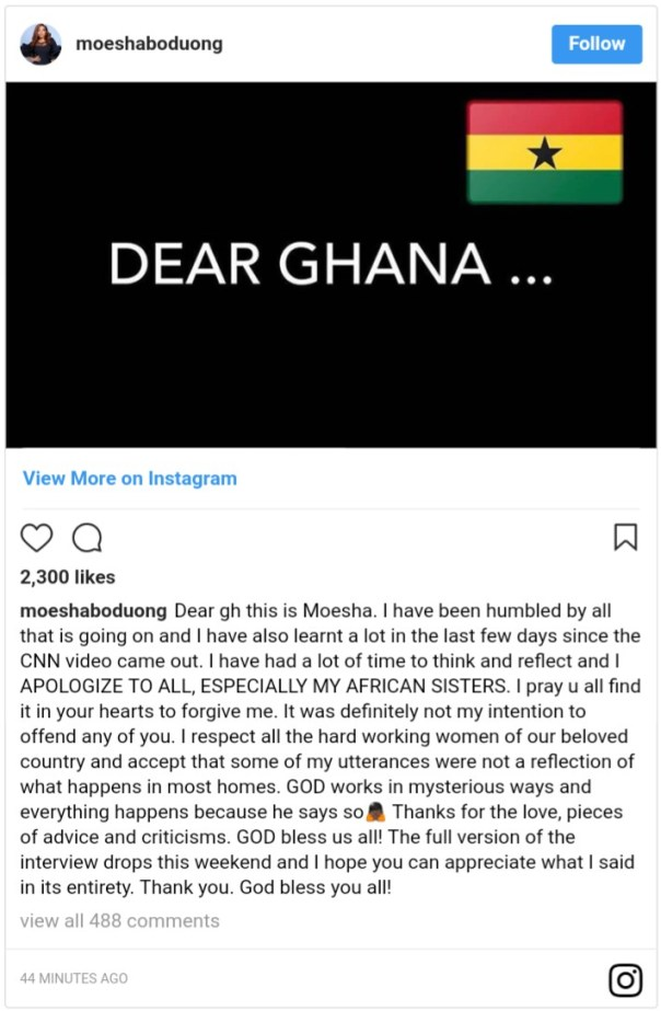 Moesha Boduong Apologizes To All Especially African Sisters After CNN Interview (2)