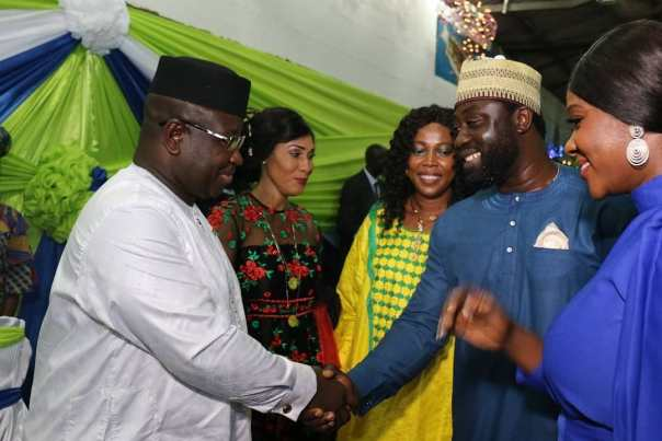 Mercy Johnson And Prince Odi Okojie Are Hosted By Sierra Leone's New President (2)