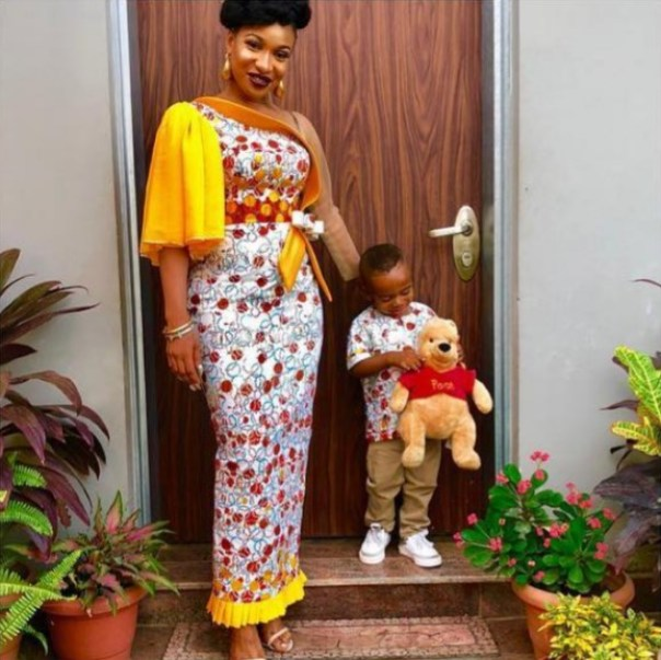 Tonto Dikeh And Son Are Twinning (4)