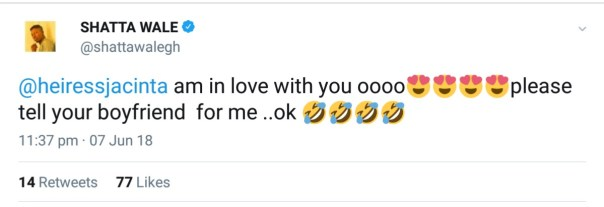 Shatta Wale Openly Declares Love For Comedienne Jacinta (2)