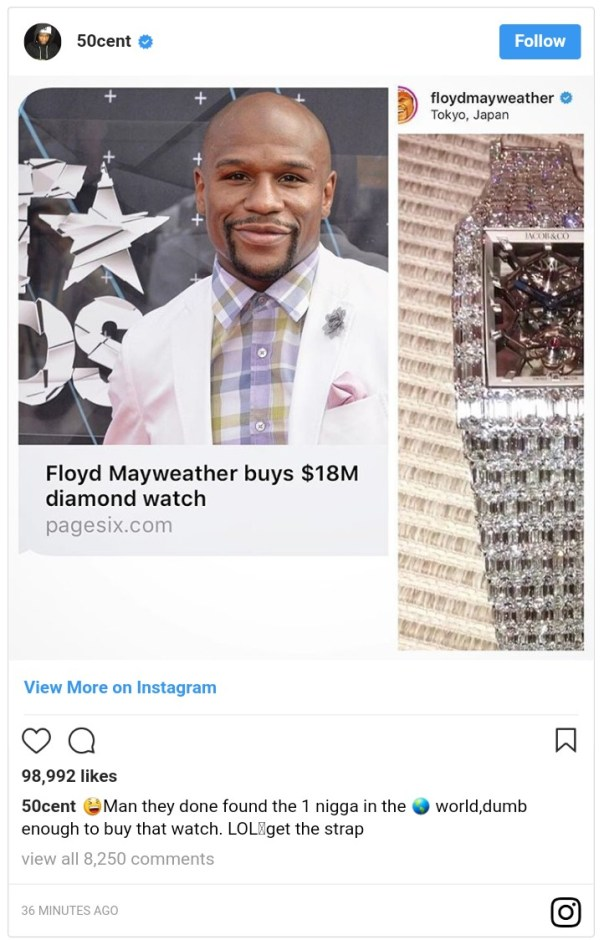 Floyd Mayweather's $18 Million Jacob & Co Wristwatch