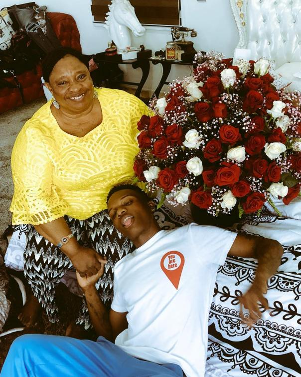 Wizkid Shares Adorable Photo Of His Mother To Celebrate Her Birthday (2)
