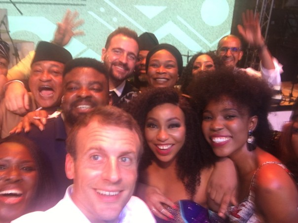 Rita Dominic Pictured With French President Emmanuel Macron