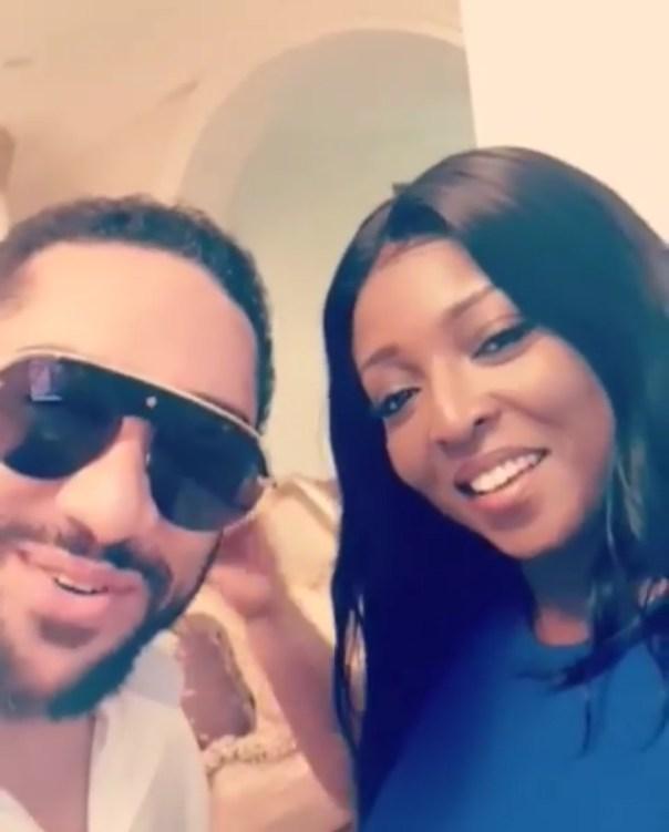 Majid Michel With Yvonne Okoro
