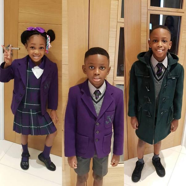 Jude Ighalo And Wife Gush Over Children After Seeing Them In School Uniforms (2)