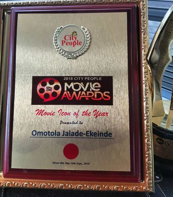 Omotola Jalade City People Movie Icon of the Year Award (3)