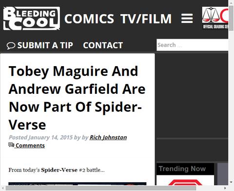 スパイダーバースにアンドリュー・ガーフィールドとトビー・マグワイアがちょっとだけ登場!