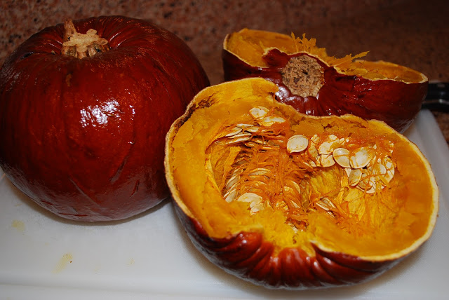whole roasted pumpkin