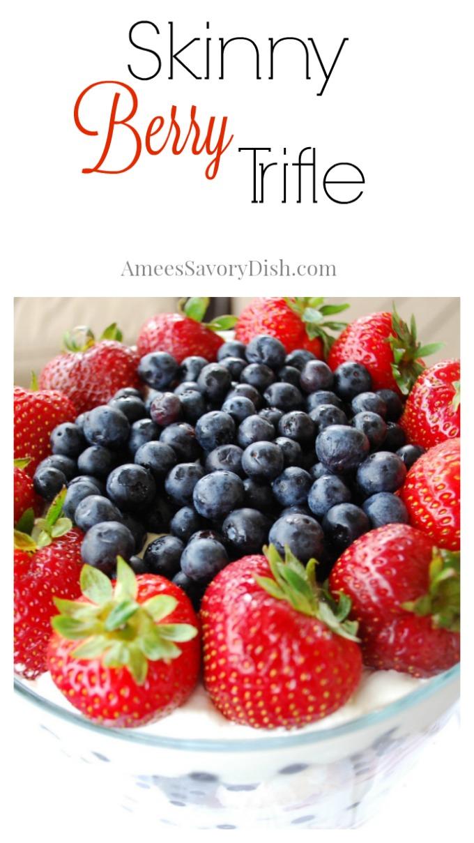 Skinny Berry Trifle