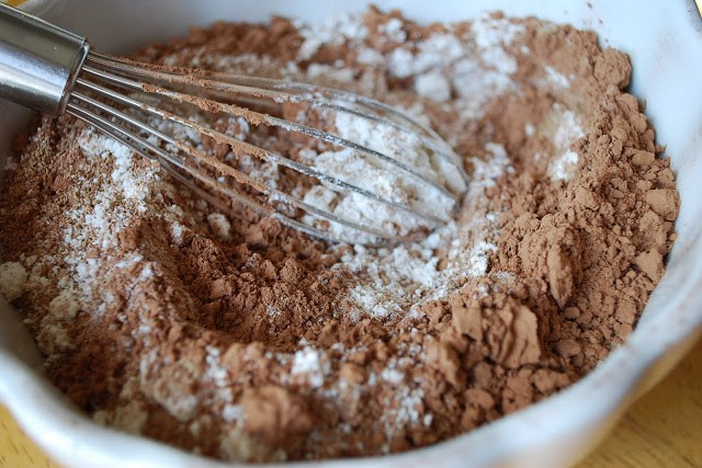 Double chocolate muffin ingredients