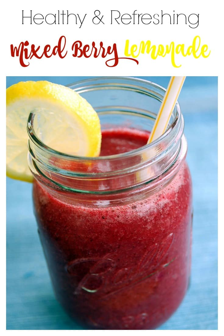 Healthy Mixed Berry Lemonade - This refreshing beverage is healthy and would be pretty amazing for happy hour with a little citrus vodka added to it. ;)