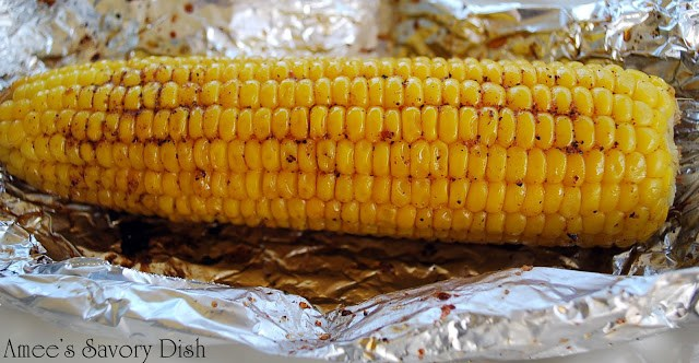 The easiest way to make grilled corn on the cob
