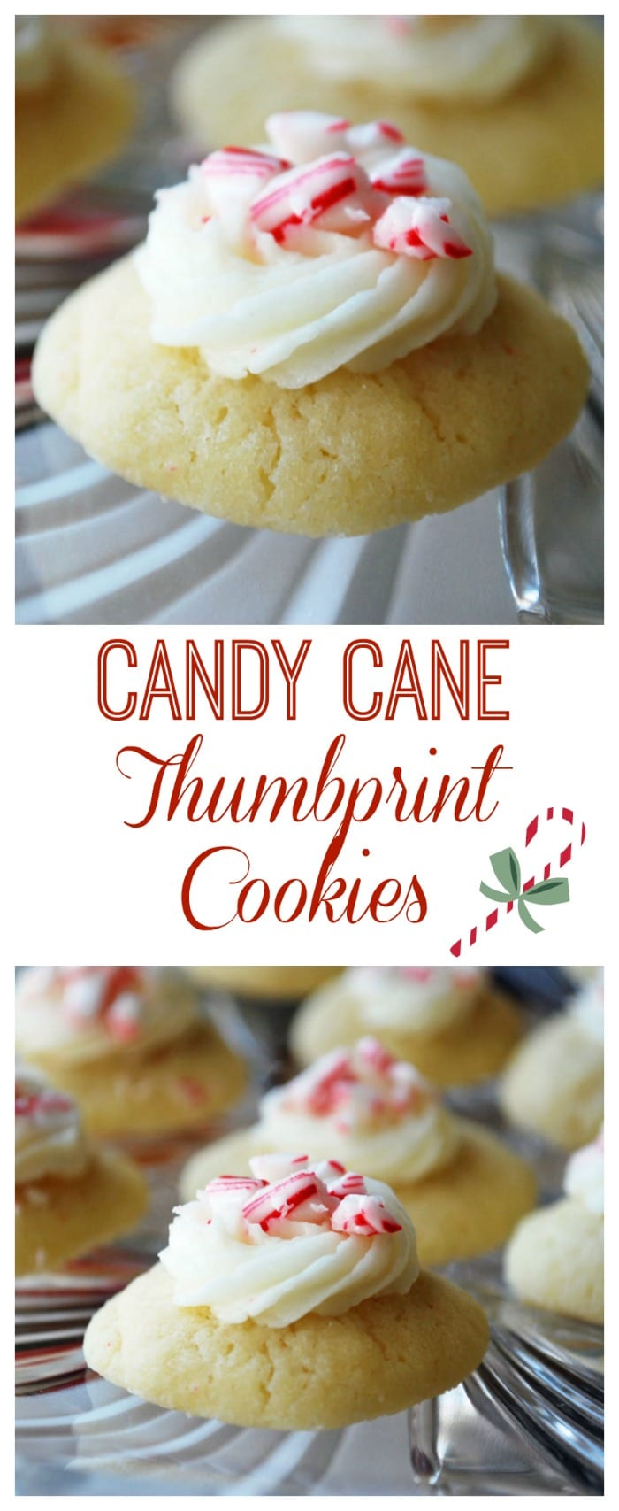 Candy Cane Thumbprint Cookies